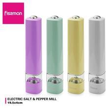 Fissman Electric Salt Mills Pepper Mill with Adjustable Ceramic Grinder