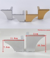 4Pcs/Lot Stainless Steel Gold Chrome Furniture Bath Coffee Stool Bar Sofa Chair Leg Legs Feet European Concise