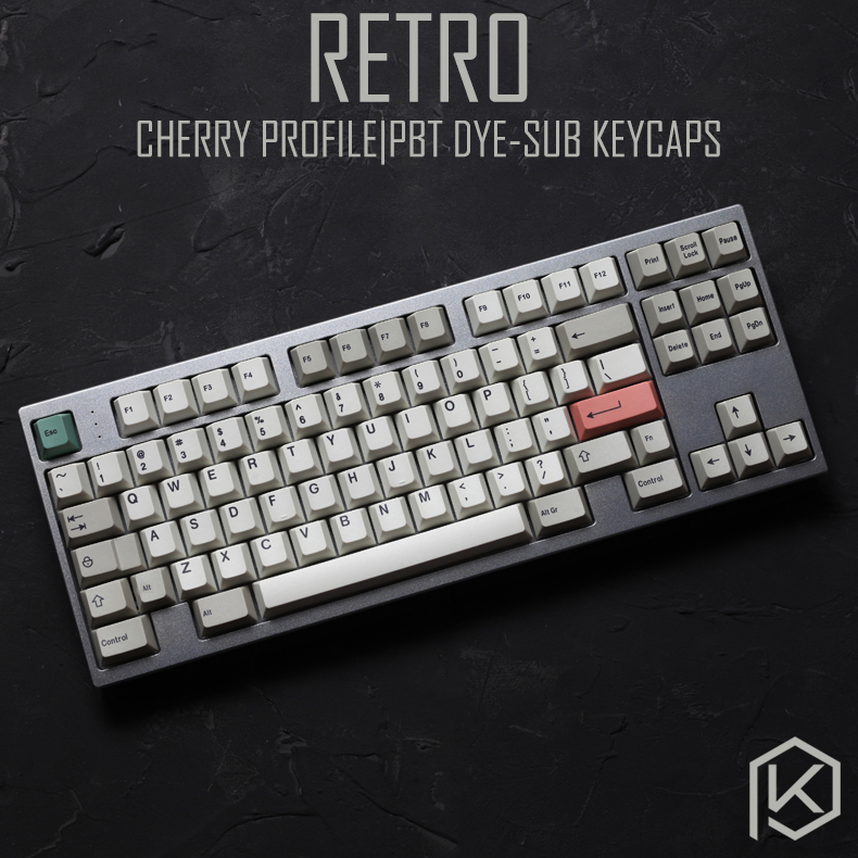 9009 Colorway 169 Cherry Profile Dye Sub Keycap Set Thick PBT Plastic Keyboard Gh60 Xd60 Xd84 Cospad Tada68 Rs96 Zz96 87 104 660