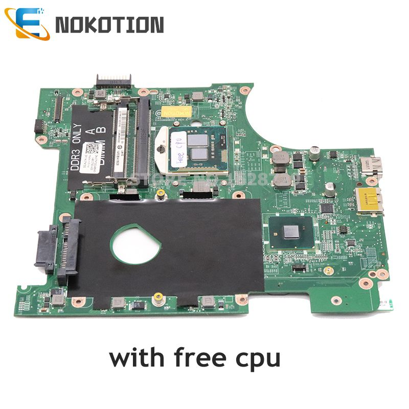 NOKOTION CN-07NTDG 07NTDG DA0UM8MB6E0 For Dell Inspiron 14R N4010 14 Inch Laptop Motherboard HD GMA HM57 DDR3 Free Cpu