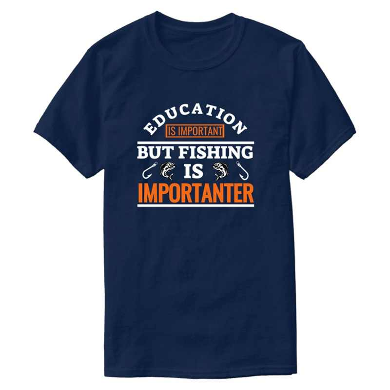 Funny Fisherman Fisher Fishing Fish T-Shirt For Mens Crew Neck Mens Tee Shirt Short-Sleeve Natural Top Tee