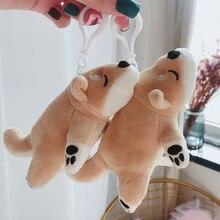 Милая кукла ину Шиба брелок лежа на собаке плюшевый для ключей