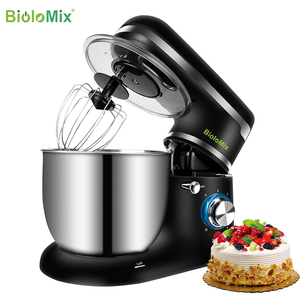 Image 2 - BioloMix batteur sur socle bol inox 6 vitesses cuisine alimentaire mélangeur crème oeuf fouet gâteau pâte pétrin pain mélangeur fabricant