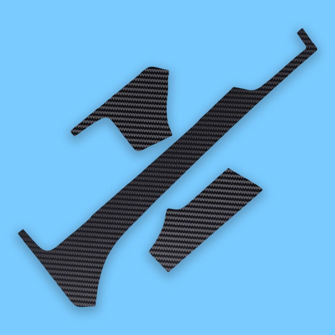 CITALL 3pcs/set PP Black Carbon Fiber Style Dashboard Air Vent Outlet Decoration Cover Trim Sticker Fit For Tesla Model X S