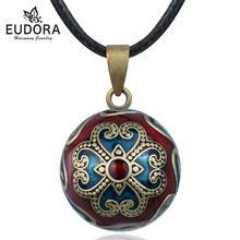 Eudora הרמוניה הריון כדור שרשרת bola הריון כדור תליון עם איריס פרח יוקרה הבארוק תכשיטי עבור בהריון אישה