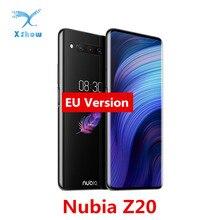 Nubia Z20 çift ekran 6.42 + 5.1 inç Smartphone Snapdragon 855 + 8GB 128GB hızlı şarj 4.0 4000mAh 48 + 16 + 8MP cep telefonu