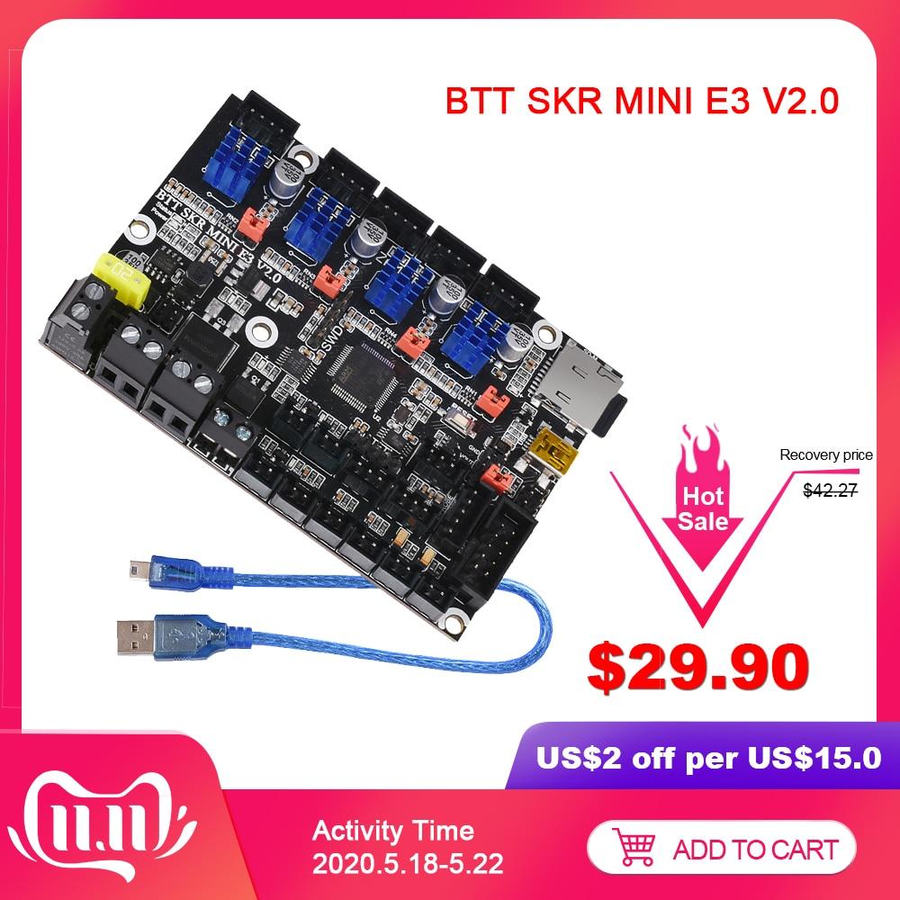 BIGTREETECH BTT SKR MINI E3 V2.0 Control Board Dual Z Axis TMC2209 UART 3D Printer Parts Upgrade SKR V1.3 E3 DIP CR10 S Ender 3