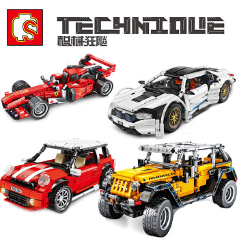 SEMBO Technic Car MOC City Racing Car Sport Car SUV Off-road Vehicles Building Block Model Bricks Set Toys For Children Boy Gift new sembo block engineering city construction container truck fit technic building blocks toys bricks toys for children kid gift