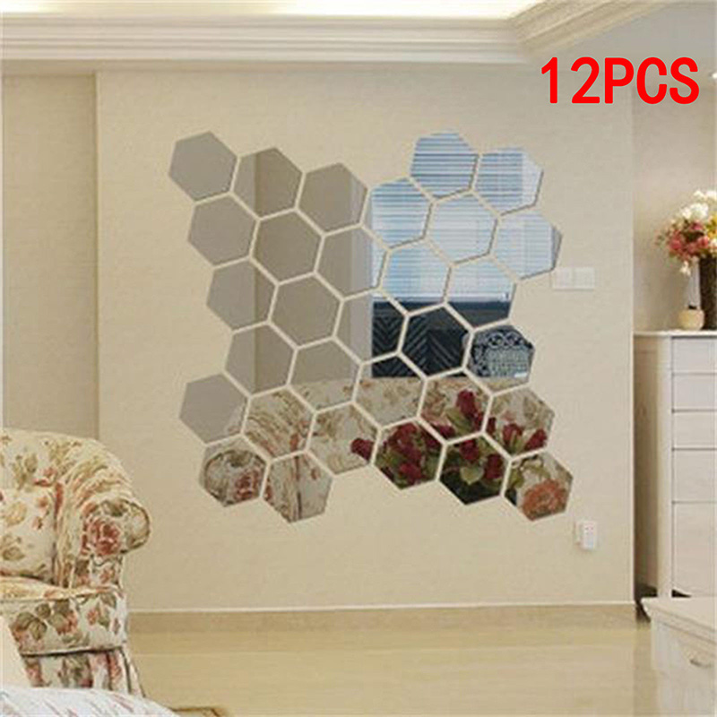 Permalink to 12PCS Hexagon Acrylic Mirror Wall Sticker Removable 3D Wall  Mirror Sticker Decorative Mirrored Sticker Home Room Decor