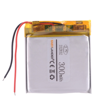 332832 3.7V 300MAH lithium polymer battery FOR Supra scr574w GPS Driving car dvr recorder MP3 player MP4 MP5 image