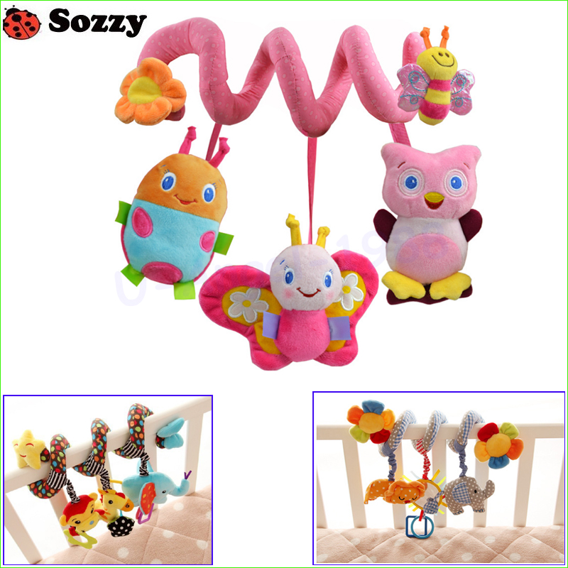1pcs Sozzy Musical Stars Elephant Monkey Multifunctional Car Bed Hanging Bed Bell Baby Toys Educational Toys Rattles For Kids