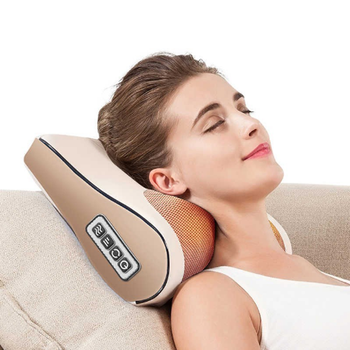 Infrared Heating Massage Pillow Neck Shoulder Back Body Electric  Shiatsu Massager Device Cervical Healthy Muscle Relaxation high quality neck shoulder cervical vertebra back waist massage cushion electric body relaxation massage pillow chair