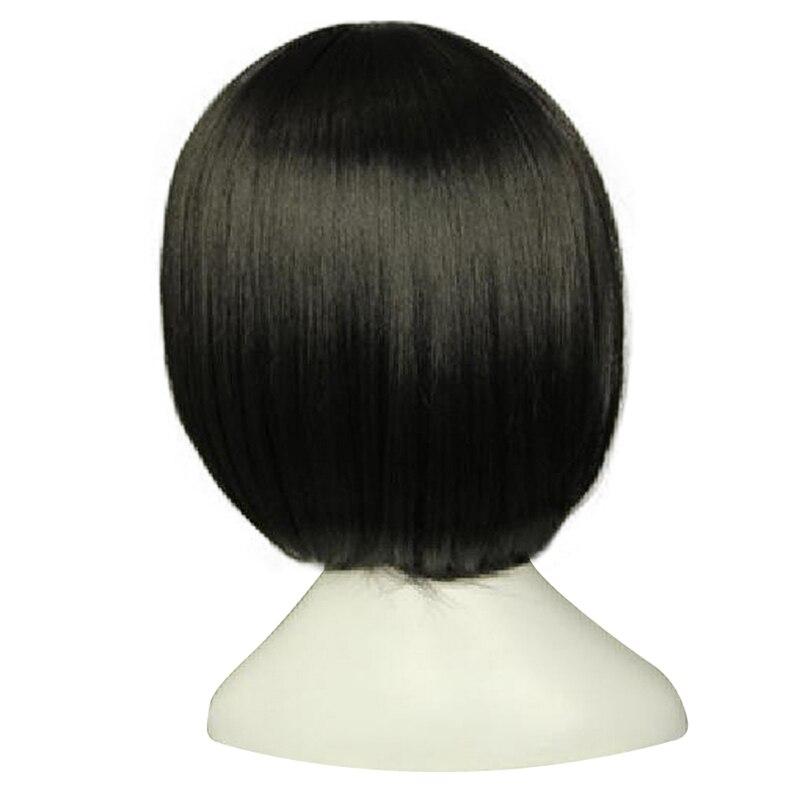 Hairjoy jet peruca preta cosplay, cabelo sintético
