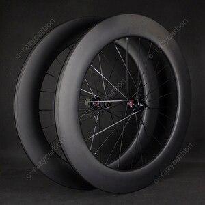 Image 3 - משלוח חינם שוויצרי 350 כביש אופניים U צורת Aero גלגלי כביש דיסק בלם DT אופני מירוץ Centerlock Thru Axle ללא פנימית /נימוק מכריע