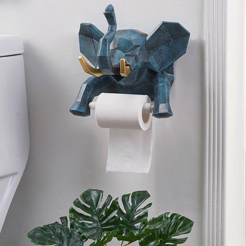 เรซิ่นช้างน่ารักสร้างสรรค์ห้องครัวกระดาษผ้าเช็ดตัวห้องน้ำม้วนกระดาษแร็คแขวนของขวัญตกแ...