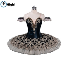 black nude ballet tutu costumes professional pancake classical for girlsBT9071