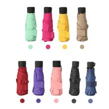 Fashion Candy color mini Capsule Pocket Umbrella Rain Anti-UV Parasol 50% off sun umbrella ultra light folding Gift
