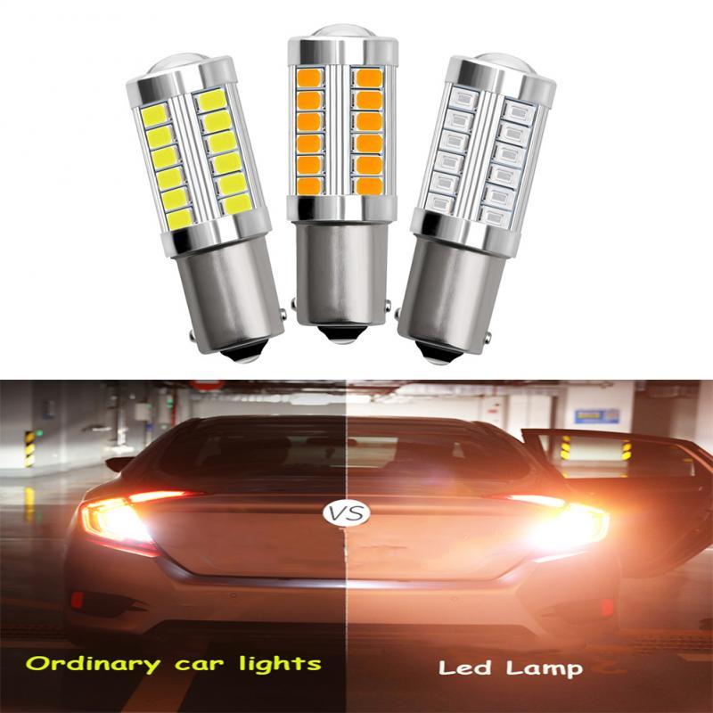 1 Пара 1156 Автомобильный светодиодный сигнальная лампа DRL супер яркий 5630/5730 Автомобильная резервная светильник Противотуманные фары парковк...