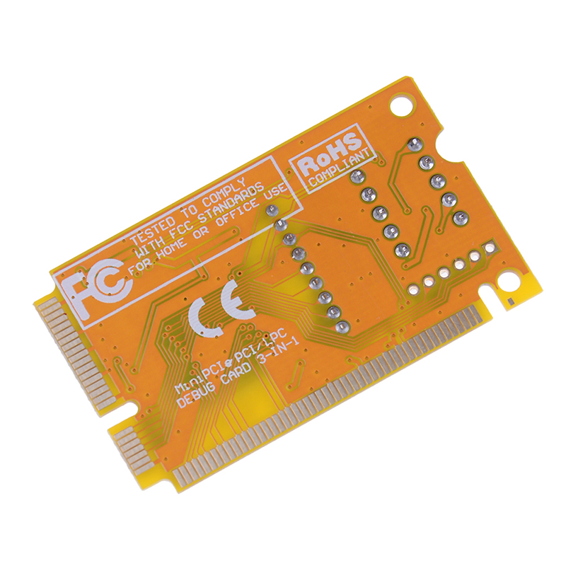 Mini PCI-E LPC PC Analyzer Tester POST Card Test For Notebook Laptop Hexadecimal Character Display 3
