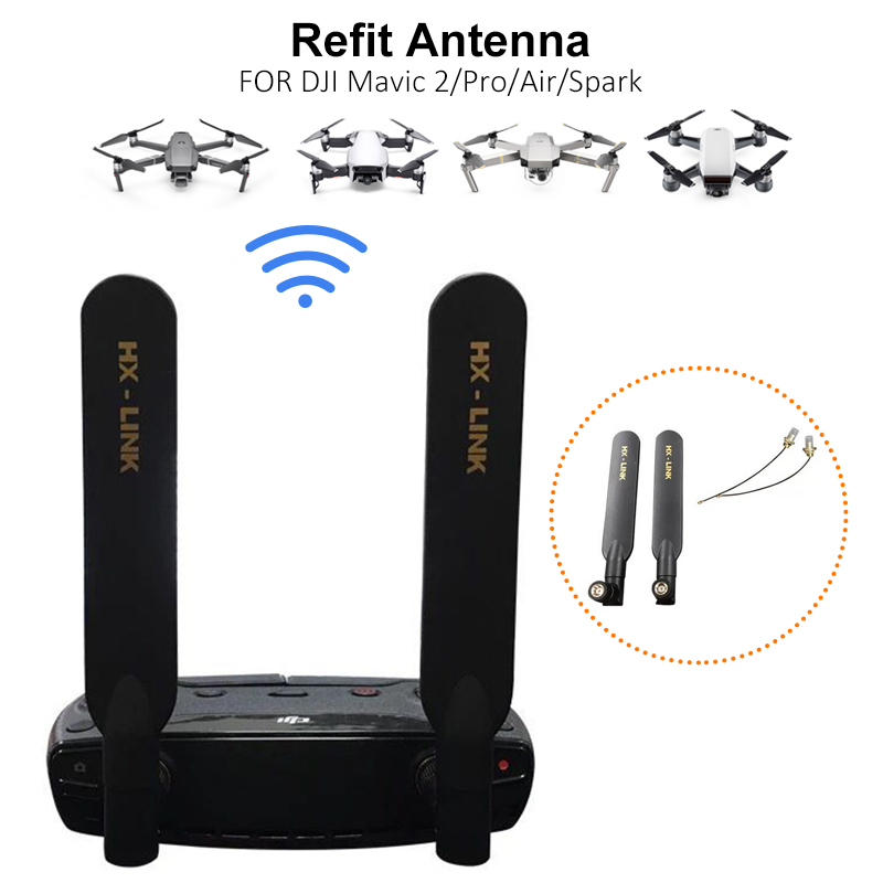 DJI Mavic Air Mini Mavic Pro 5000M Signal Booster Dual-frequency Omnidirectional  Antenna Booster  Extender for DJI Spark Drone