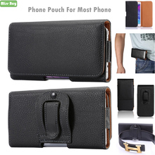 Waist Bag Belt Clip Flip Phone Pouch For iPhone 11 Pro Max Leather Bags Protective Shell Cover Case