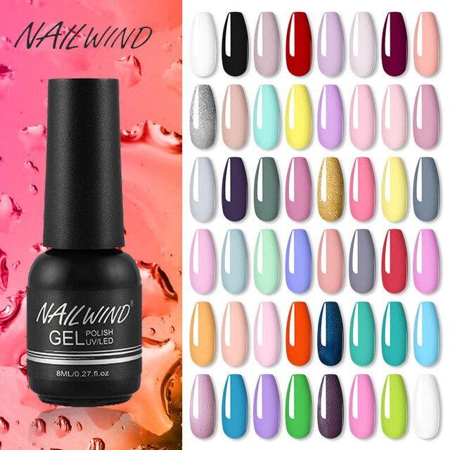 NAILWIND-vernis à ongles Gel hybride, kit de manucure Semi-Permanent UV LED, produit de Base et finition pour Nail Art