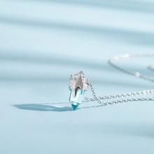 Thaya Женское ассиметричное ожерелье подвеска в оригинальном дизайне в форме ледника из серебра 925 пробы
