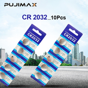 Image 1 - PUJIMAX 10Pcs original brand new battery CR2032 3v button cell coin batteries for Toys watch computer toy remote control cr2032
