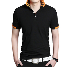 BROWON Summer Casual Menเสื้อแขนสั้นTurn Down CollarขายธุรกิจTee Topsเสื้อยืดขนาดใหญ่สบาย