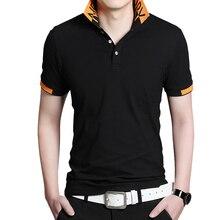 BROWON été décontracté hommes t shirt à manches courtes col rabattu vendu couleur affaires t shirt hauts surdimensionné confortable