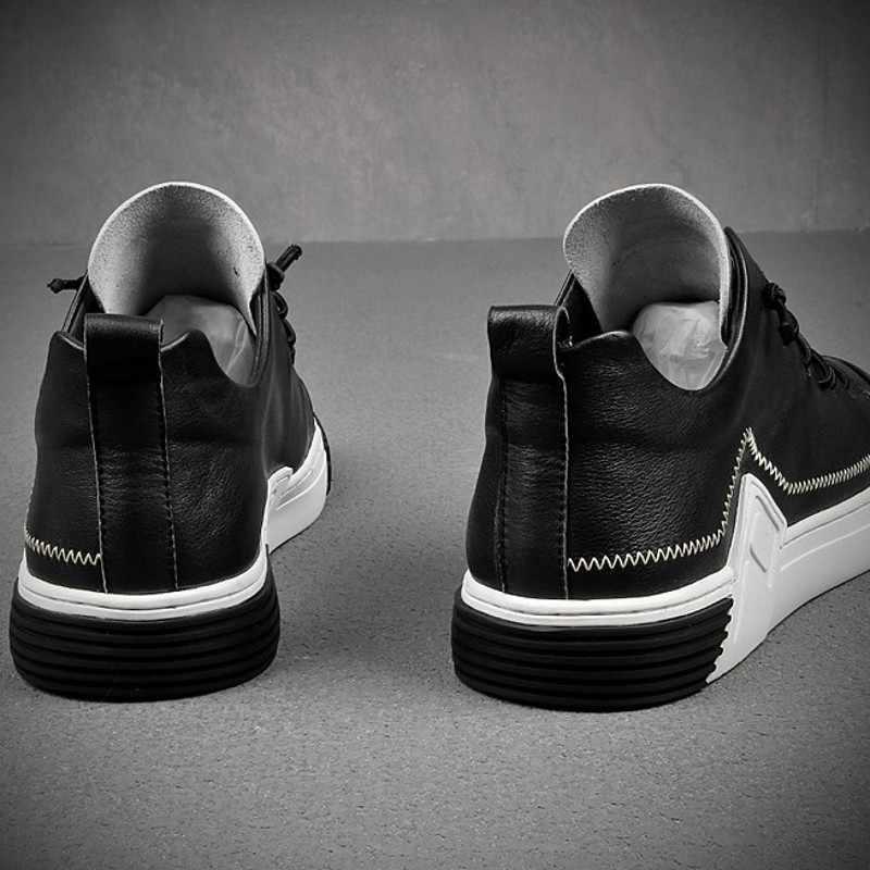 ยูโรแฟชั่น Mens Casual หนังแท้รองเท้าผ้าใบคุณภาพสูงใหม่ Streetwear ผสมสี Cowhide Zapatos De Hombre