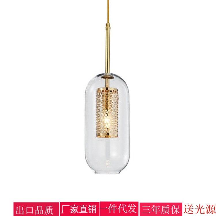 Modern Lustre Pendente Luminaire Suspendu Glass  Restaurant  LED  Pendant Lights Hanglamp Lustre Pendente