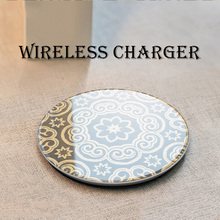 QI Wireless Charger For iPhone XS Max XR Phone LED USB Wireless Charger For Samsung Galaxy S8 S9 Plus adapter