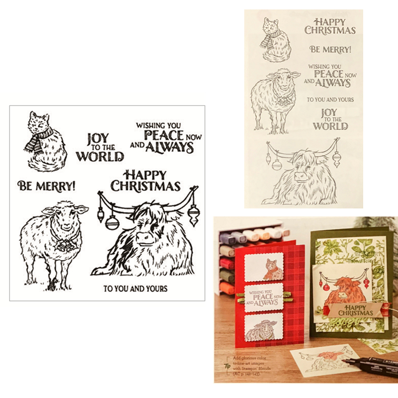 Sheep Christmas Cards 2020 New 2020 Metal Cutting Dies and Scrapbooking For Paper Making