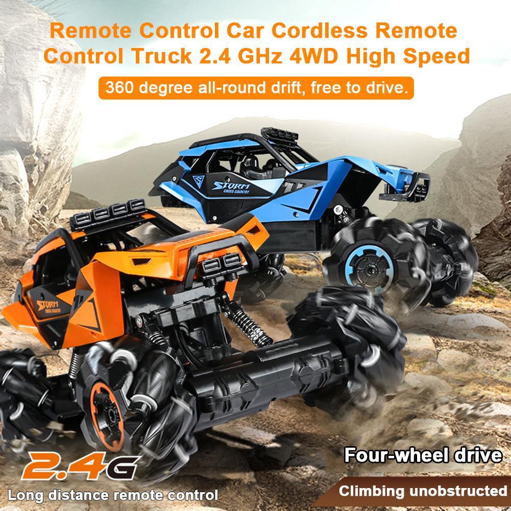 Автомобиль с дистанционным управлением 2,4G четырехколесный Радиоуправляемый электрический грузовик внедорожная Гоночная машина игрушка д... - 2