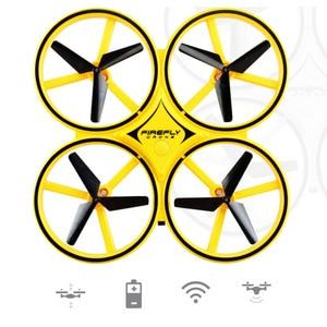 Image 2 - מיני מסוק אינדוקציה Drone חכם שעון יד המחווה חיישן מרחוק RC מטוסי UFO עף Quadcopter אינטראקטיבי ילדים צעצועים