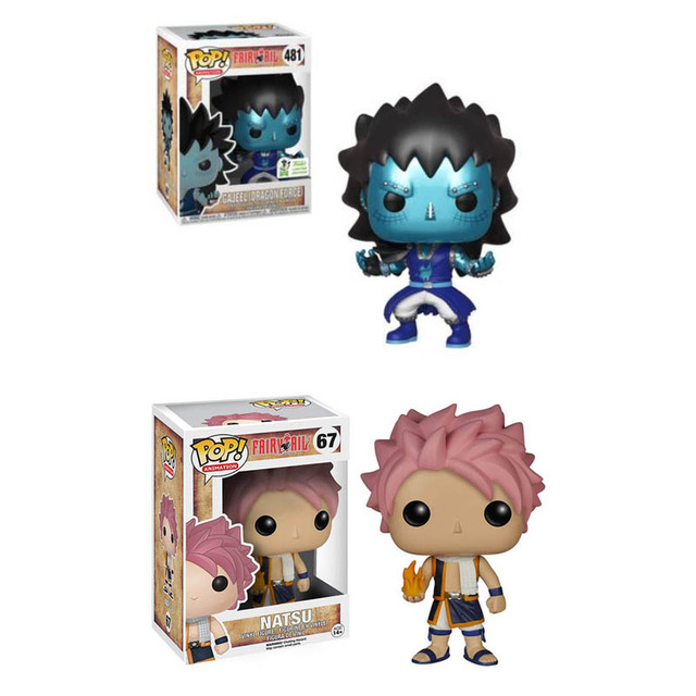 FUNKO POP FAIRY TAIL END 67# Gajeel 481# Anime Figure Model Dolls Decoration Toys for Kids Birthday Christmas Gifts 1