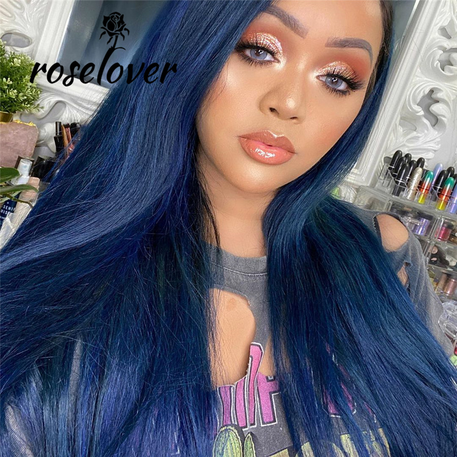 Roselover Lace Front Human Hair Wigs Remy Brazilian Human Hair Wigs Deep Parting Transparent Lace Wigs 150% Density 8-26 Inches