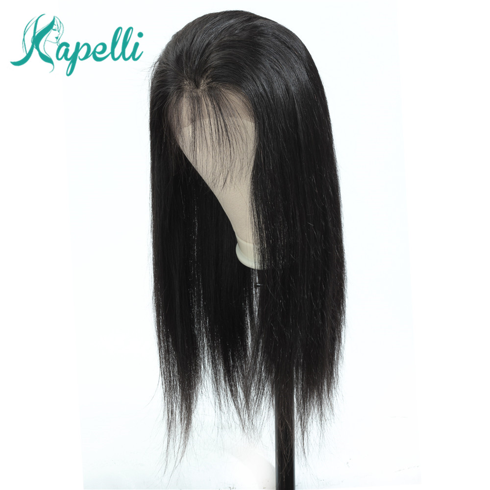 360 Lace Frontal Wig Pre Plucked With Baby Hair Straight Lace Human Hair Wigs For Black Women Remy Brazilian Wig Natural Hair