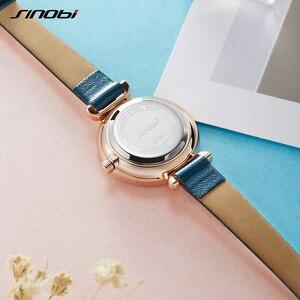 Image 5 - SINOBI montre genève pour femmes, bracelet de styliste, marque de luxe, diamant, Quartz, or, cadeaux pour dames