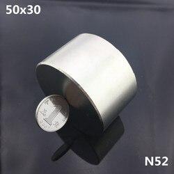 1pc N52 magnes 50x30mm potężny permanet okrągły magnes neodymowy super silny magnetyczny 40*20mm ziem rzadkich ndfeb galu metalu magnet 50x30 magnets rarerare earth neodymium magnets -