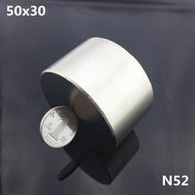 1pc N52 magnet 50x30 mm Powerful permanet round Neodymium Magnet  Super Strong magnetic 40*20mm Rare Earth  NdFeB  gallium metal