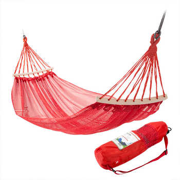 Portable Camping/Garden Hammock 1-2 Person Travel Lightweight Hanging Chair with Storage Bag Parachute Fabric Outdoor Furniture