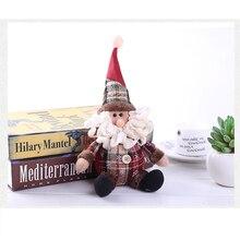 Toys Xmas Ornament Elk-Doll Room-Decor Hanging Gift Christmas-Tree Santa-Snowman Party