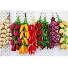 Lemon Simulation Fruits Food-Vegetables Garden-Art-Decor Pu-Red-Pepper Fake Artificial