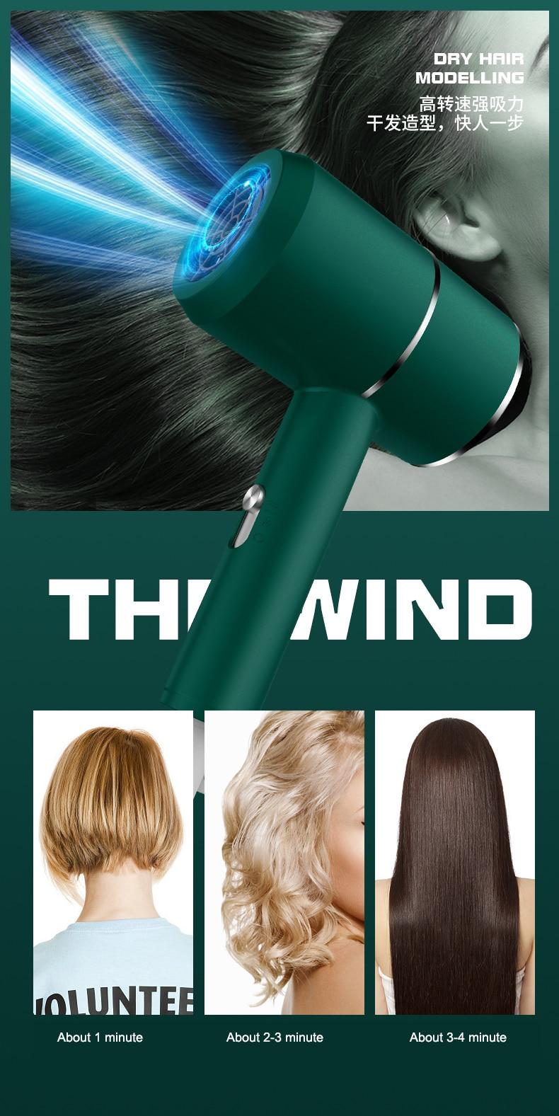 cabelo profissional de secagem rápida martelo ty 2000w para casa