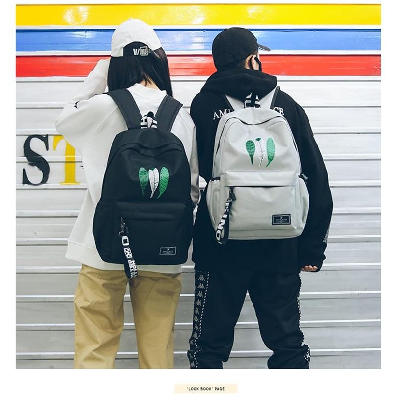 Fashion Nylon Women Backpack Female Large Capacity High Schoolbag Boy Korean Vintage Girl Shoulder Bags Travel Bag