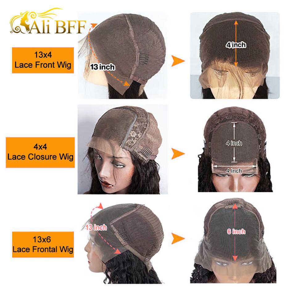 Pelucas rizadas de 13*6 para mujer, peluca Frontal de encaje rizado de densidad del 180%, peluca rizada de encaje ALI BFF HD, pelucas de cabello humano con encaje Frontal completo