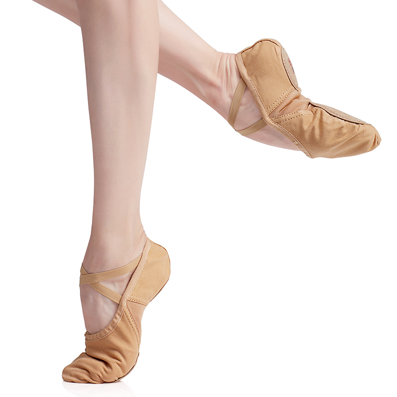 Children Ballet Cotton Canvas Dance Shoes Adult Flexible Ballet Soft Sole Dance Shoes