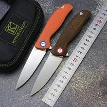 Kanedeiia складной нож F3 Флиппер D2 лезвие Титан+ Микарта/G10 Ручка Открытый кемпинг охотничий нож фрукты EDC инструменты